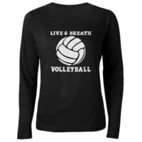 Live & Breath Volleyball T-Shirt on CafePress.com