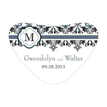 Lavish Monogram Heart Container Sticker Berry (Pack of 1)