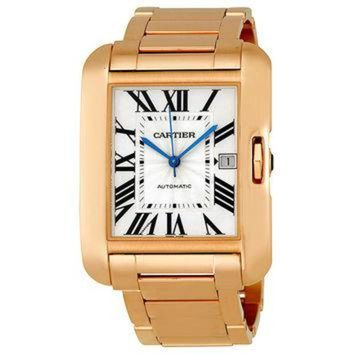 VLX9RV Cartier Tank Anglaise Silver Dial 18k Rose Gold Mens Watch W5310002