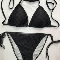 Gucci Bikini Set Bathing Suits With Halter Strap Swimwear