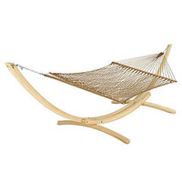 Hatteras Hammock, Outdoor Deluxe DuraCord Rope Antique Brown - furniture - Macy's