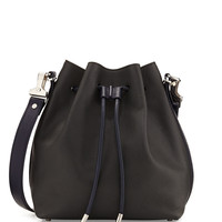 Medium Bicolor Bucket Bag, Gray/Navy - Proenza Schouler
