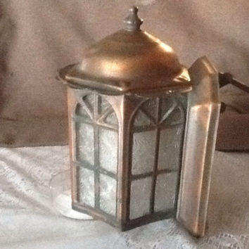 Vintage Copper Porch Light Bungalow Cottage Style