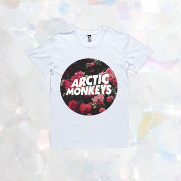 Arctic Monkeys Floral T-Shirt | Unisex S-XXL | Tumblr Cute Cool Kawaii Seapunk Flowers Music The 1975 One Direction *ON SALE*