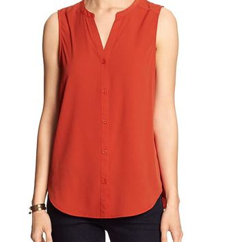 43b161940f0 Banana Republic Womens Factory Sleeveless Blouse