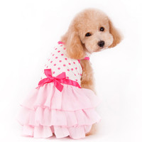 Dots and Ruffle Dog Dress by Dogo