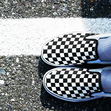 Free People Classic Checkered Slip On