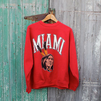 vintage Miami University Redskins sweatshirt by oldcrowvintage