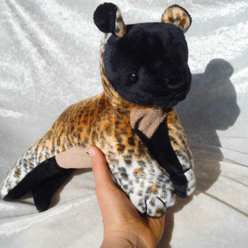 Stuffed HYENA PLUSH Unique Home Decor wild animal safari HANDMADE soft toy Wild Dog wildlife decor stuffed animal puppy cub floppy leopard