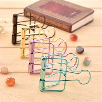 5Pcs/set Kawaii Small Paper Clips Clips Binder Clips Photo Holder Office Accessories Clips Cute Gift Accessoires 40*19*5mm