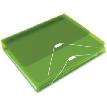 Samsill DUO 2-in-1 Organizer - Binder + Expanding File-Green - 5 pack