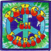 Peace On Earth Iron-On Patch Square Logo