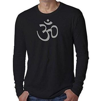 Mens AUM Symbol Long Sleeve Tee Shirt