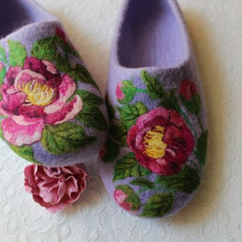 Indoor Felt Slippers for Alice, 42 size