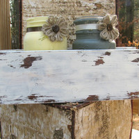 Rustic Mason Jar Distressed Wooden Box Centerpiece, Rustic Wedding Decor