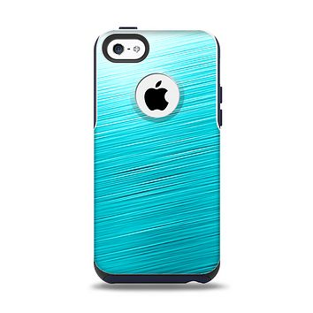 The Light Blue Slanted Streaks Apple iPhone 5c Otterbox Commuter Case Skin Set