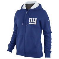 Nike New York Giants Womens Tailgater Full Zip Hoodie - Royal Blue