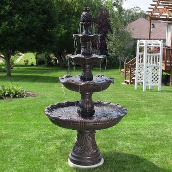 Electric 4 Tier Grand Garden Fountain