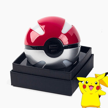 Pokeball Power Bank 10000mAh Cute Poke Ball Power Bank for iPhone for Samsung Xiaomi External Battery Charger with Original Box