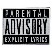 Parental Advisory Explicit Lyrics Patch Iron on Applique Alternative Clothing