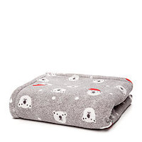 Home Accents® Polar Bear Print Microplush Throw - Belk.com