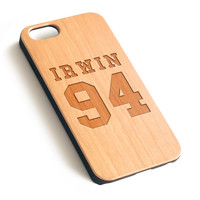 Irwin 94 Natural wood iPhone case laser engraved iPhone case WA071