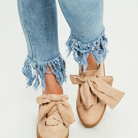 Missguided - Nude Faux Suede Platform Sneakers