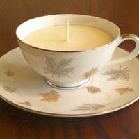 Fine China Teacup candle set - unique and one of a kind