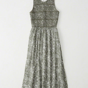Womens Cutout Midi Dress | Womens Dresses & Rompers | Abercrombie.com
