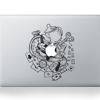 Alice in Wonderland Cups Macbook Decal