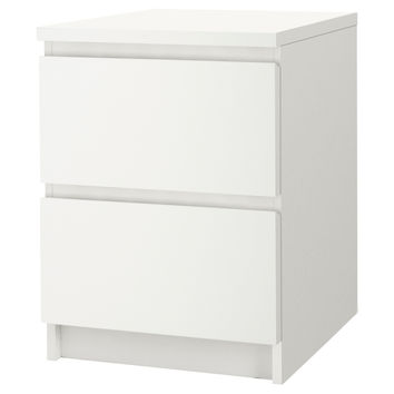 MALM Chest with 2 drawers - white, 15 7/8x21 5/8