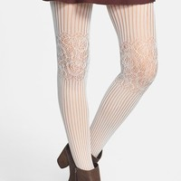 BP. Lace Knee Ribbed Tights (Juniors) | Nordstrom