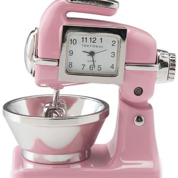 Pink Retro Clock Mixer