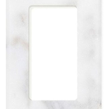 Italian Calacatta Gold Marble Single Rocker Switch Wall Plate / Switch Plate / Cover - Honed