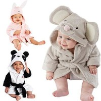 baby kids Hooded Animal modeling Cloak Baby Bathrobe Cartoon infant bath towel [8833435724]