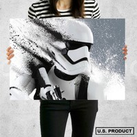 Poster Print Stormtrooper Star Wars The Force Awakens Wall Decor Canvas Print - halawatani.com