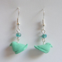 Easter Marshmallow Candy Miniature Food Earrings - Miniature Food Jewelry, Handmade Jewelry Earrings