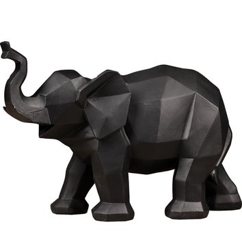 Modern minimalist model room home interior decorations geometric origami elephant ornaments creative animal furnishings
