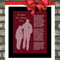 Personalized Wedding Gift for Parents. Father Of The Groom. Thank You. Unique Gift. 8x10 ANY COLOR