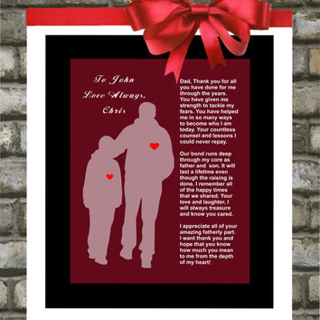 Wedding Gift for Parents. Father Of The Groom. Thank You. Unique Gift ...