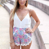 AS LONG AS YOU WERE HERE SHORTS , DRESSES, TOPS, BOTTOMS, JACKETS & JUMPERS, ACCESSORIES, 50% OFF SALE, PRE ORDER, NEW ARRIVALS, PLAYSUIT, COLOUR, GIFT VOUCHER,,Pink,Print,LACE,MINI Australia, Queensland, Brisbane