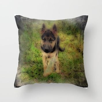 shep Throw Pillow by Jessica Ivy