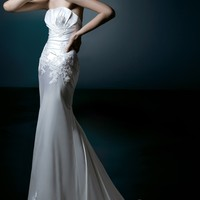 Wholesale Column or Sheath Sweetheart Floor-Length Gown with Satin Style Catherine ,for $236.00 only in VikiDress.com.