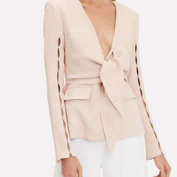 Staple Sleeve Crepe Blazer