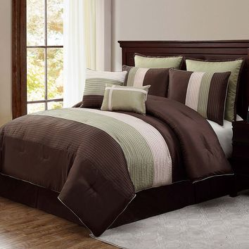 Victoria Classics Essex 8-pc. Reversible Comforter Set