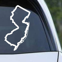 New Jersey State Outline NJ - USA America Die Cut Vinyl Decal Sticker
