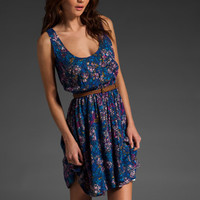 EIGHT SIXTY Floral Dress w/ Belt in Navy/Pink at Revolve Clothing - Free Shipping!