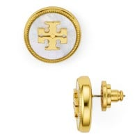 Tory Burch Logo Stud Earrings | Bloomingdales's