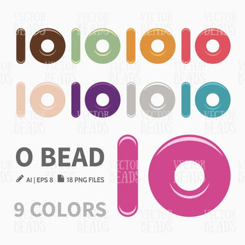 O Bead Clip Art. Beads Vector Graphic, Vector illustration of glass beads