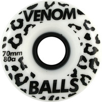 Venom Balls 70mm 80a White/Black Longboard Wheels